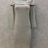 Платье на плечи в полоску размер 8-10