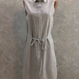 Платье рубашка туника в полоску h&m