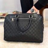 Мужская кожаная сумка портфель Avenue Louis Vuitton