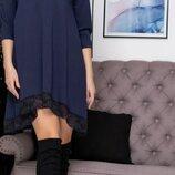 Асимметричное платье большого размера Emma