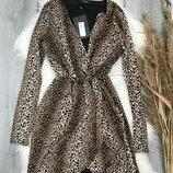 Трендовое платье леопардовый принт новое с биркой