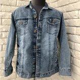 Джинсовая куртка-рубашка на мальчика 8-12 года