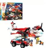 Конструктор Qman 2805. Детский Конструктор. Конструкторы типа Лего. Пожарная машина. Пожежна машина.