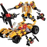 Конструктор Qman 3404. Детский Конструктор. Конструкторы типа Лего. Робот. Машина.