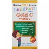 California Gold Nutrition Детский жидкий витамин С Children s Liquid Gold C