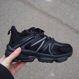 Подростковые кроссовки 36-41р черные на пенке