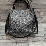 Женская сумка шоппер Майкл Корс с косметичкой,глиттер
