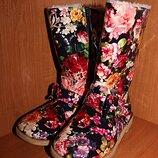 Зимние Сапоги с цветами