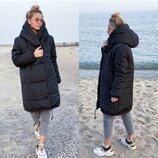Зимнее пальто куртка зефирка силикон 300
