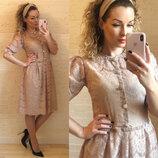 Платье гипюр ресничка