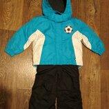 р.86-92, новый раздельный зимний термо-комбинезон Германия куртка и штаны