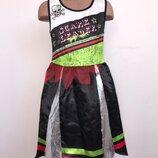 Черлидер Болельщица Зомби платье костюм 7-8 лет