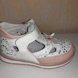 Кожаные летние туфли на девочку 20-25 р. Jong Golf, кроссовки, мокасины, кеды, лядаб, белые