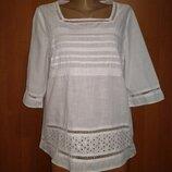 Легкая хлопковая блузка хлопок Пог 52 см