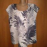 Классная льняная блузка лён Пог 58 см