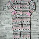 Кигуруми слип пижама комбинезон махровый на девочку с оленями