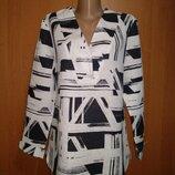 Оригинальная льняная блузка лен Пог 52 см