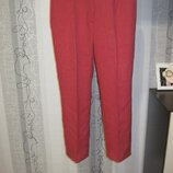 Новые брюки штаны классические коралловые укорочены 16