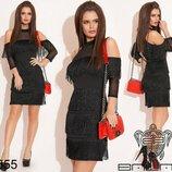 Вечернее платье чёрное и красное