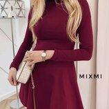 Платье с двойным горлом