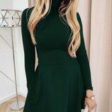 Платье с двойным горлом, франц трикотаж