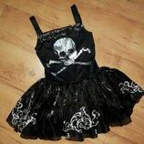 Карнавальное платье с черепом на Хэллоуин на 11-13 лет