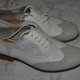 Кожаные туфли Clarks soft wear 23.5 см 36 размер сост новых