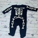 Человечек,слип.скелет.3-6 месяцев. George