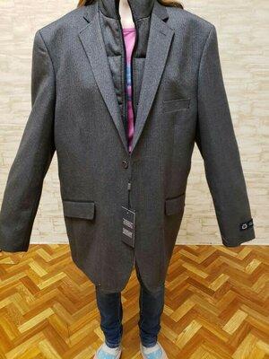 Модный фирменный мужской костюм- куртка- пальто пиджак 58 розмер