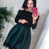 Платье пышная юбка два цвета