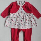 Нарядный человечек-платье с повязкой Matalan для малышки 0-3 мес.