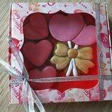 Имбирно медовые пряники на день Святого Валентина, день влюблённых