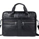 Сумка мужская портфель Дипломат из натуральной кожи модель 2020 года