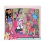Кукла-Скрипачка с собачкой, кукла барби с собакой