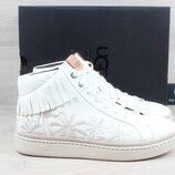 Белые кожаные сникерсы / кеды UGG оригинал, размер 40 - 41