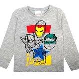 Серый реглан для мальчика Marvel, Avengers, комикс Мстители р.104-140