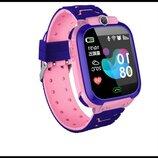 Детские смарт-часы S12 с GPS розовые IP68 Водонепроницаемые Смарт-Часы с sim-картой