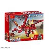 Конструктор Decool 3120 Architect Аналог Lego Creator Красный дракон 3 в 1, 486 деталей