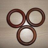 Кольцо деревянное цвет Каштан