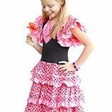 Испанка Цыганка Фламенко Кармен 9-12 лет костюм платье