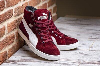 Люкс качество до -30 Мужские зимние кроссовки ботинки Puma два цвета