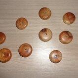 Бусинки из можжевельника Диск 18 мм