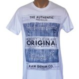 Белая мужская футболка Original - 5341