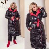 Новиночки Классное пальто двустороннее- зима. Размеры 48- 58