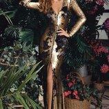 платье двухсторонние паетки двухсторонний замок couture,