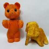 Игрушка кукла Ссср мишка медведь слон слоник солома одним лотом