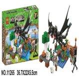 Конструктор Bela 11265 Minecraft Майнкрафт Битва с черным драконом 283 детали
