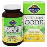 Garden of Life Витаминный код сырой B-комплекс Vitamin Code Raw B-Complex 120 Vegan Capsules