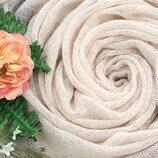 Нарядный мохеровый шерстяной шарф палантин Италия.