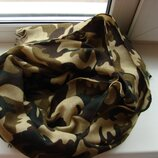 Шарф платок палантин большой хаки